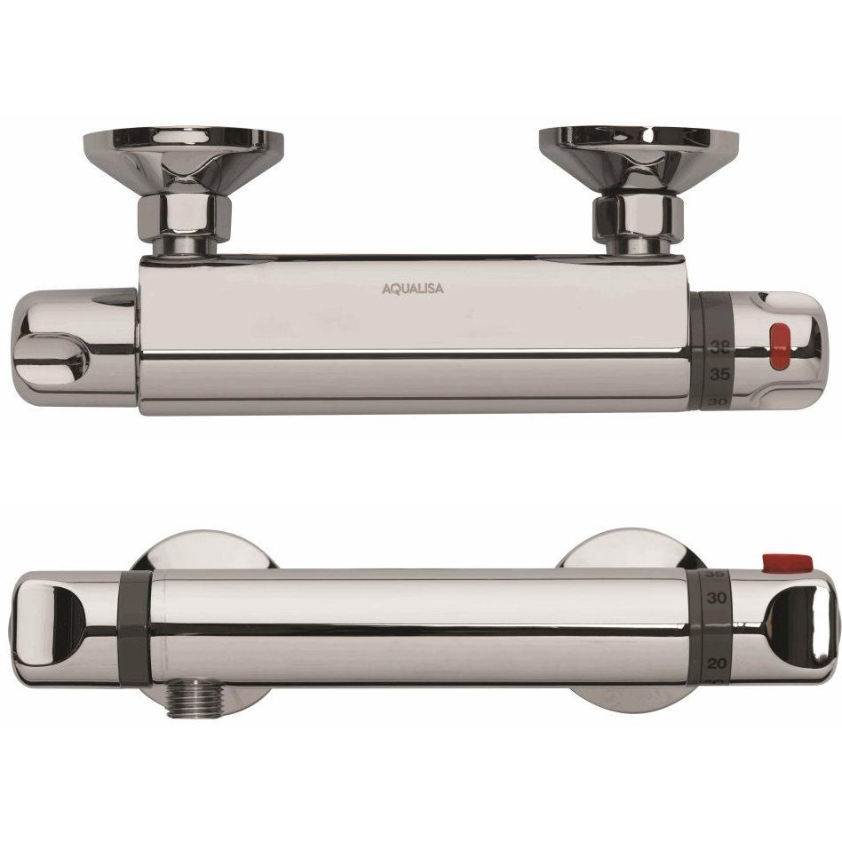 aqualisa midas 100 thermostatic bar shower mixer valve. Black Bedroom Furniture Sets. Home Design Ideas