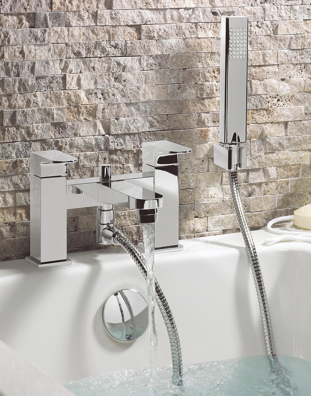 Bath Taps: Crosswater Modest Bath Shower Mixer Tap With Kit
