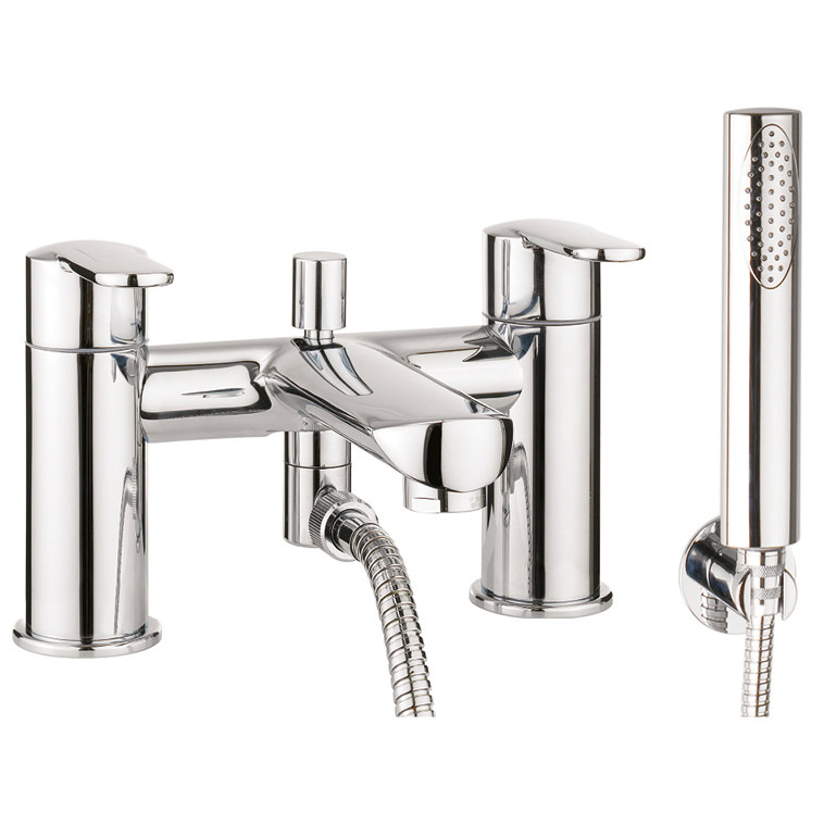 Crosswater Voyager Deck Mounted Bath Shower Mixer Tap With Kit Vo422dc