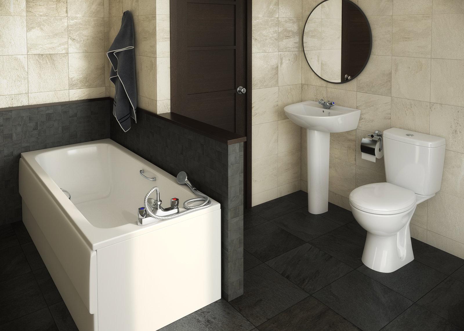 Armitage shanks bathroom sinks - Armitage Shanks Sandringham 21 1th White Bathroom To Go Pack