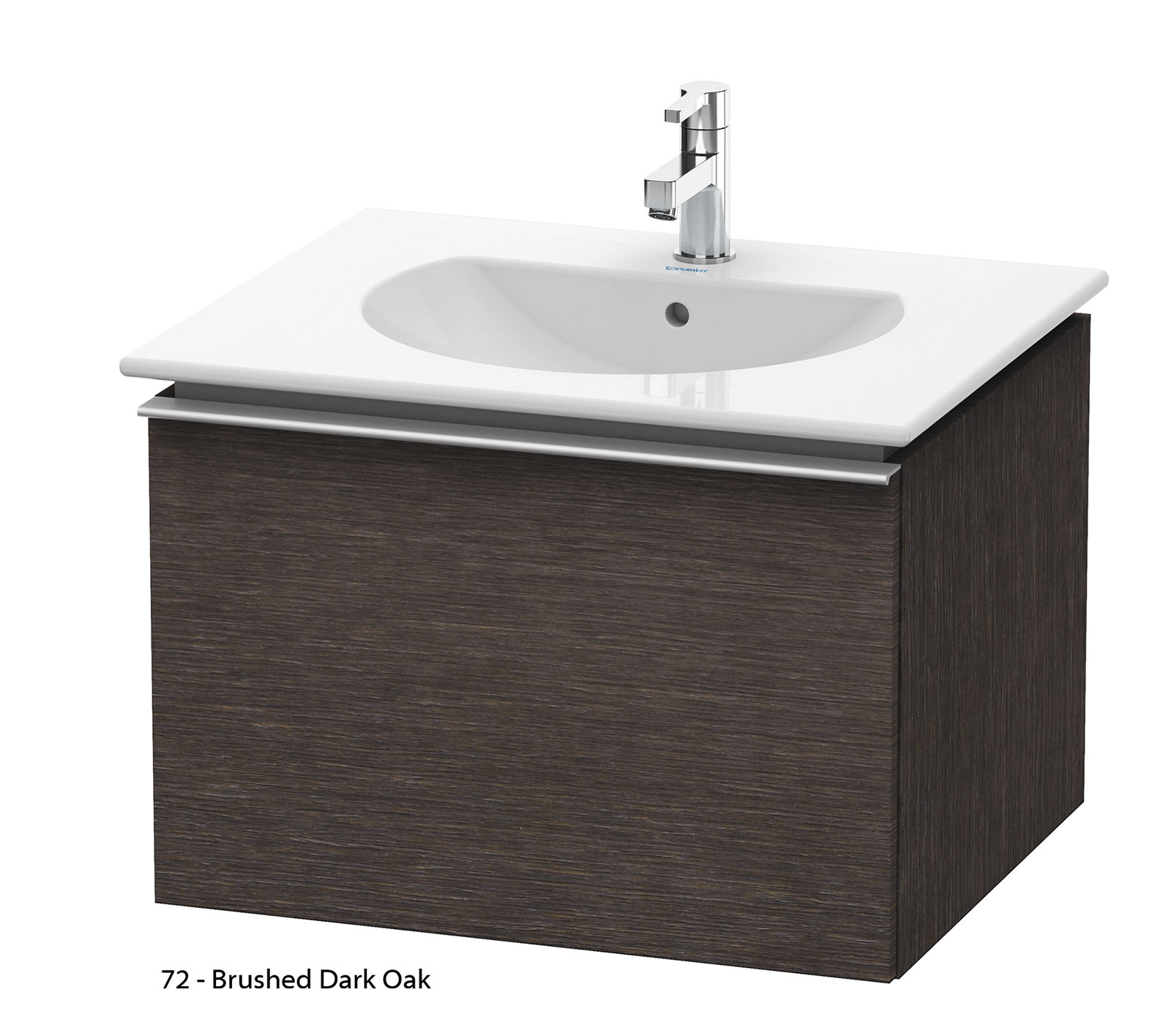 duravit darling new 600mm terra vanity unit with 630mm basin dn6460. Black Bedroom Furniture Sets. Home Design Ideas