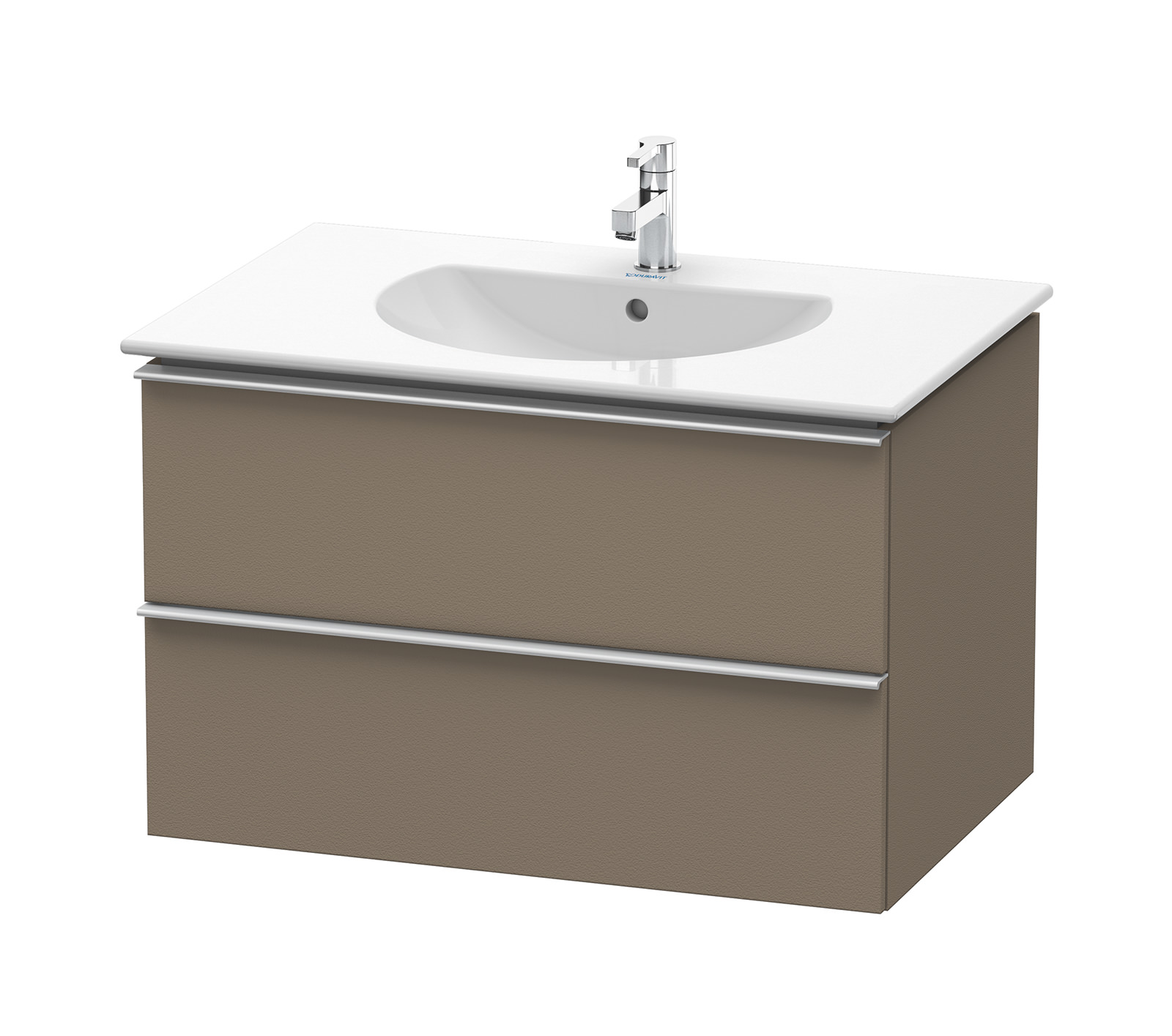 Duravit Darling New 800mm 2 Drawers Terra Vanity Unit With ...