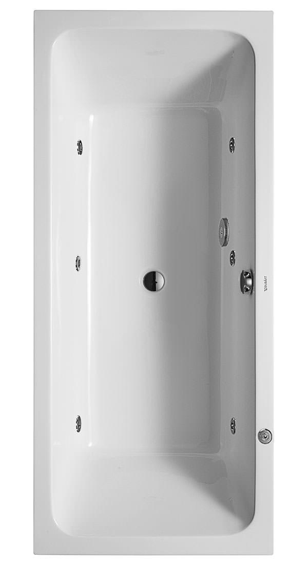 duravit d code 1800 x 800mm bath central outlet jet. Black Bedroom Furniture Sets. Home Design Ideas