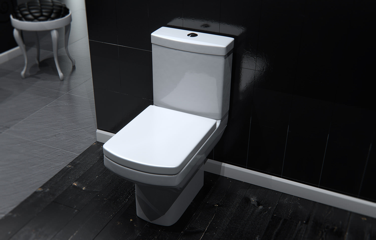 Saneux I Line Close Coupled Wc Pan With Cistern And Seat