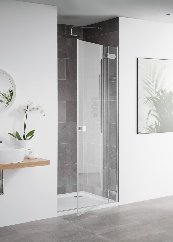 Lakes Island Barbados 1000 X 2000mm Frameless Hinge Shower
