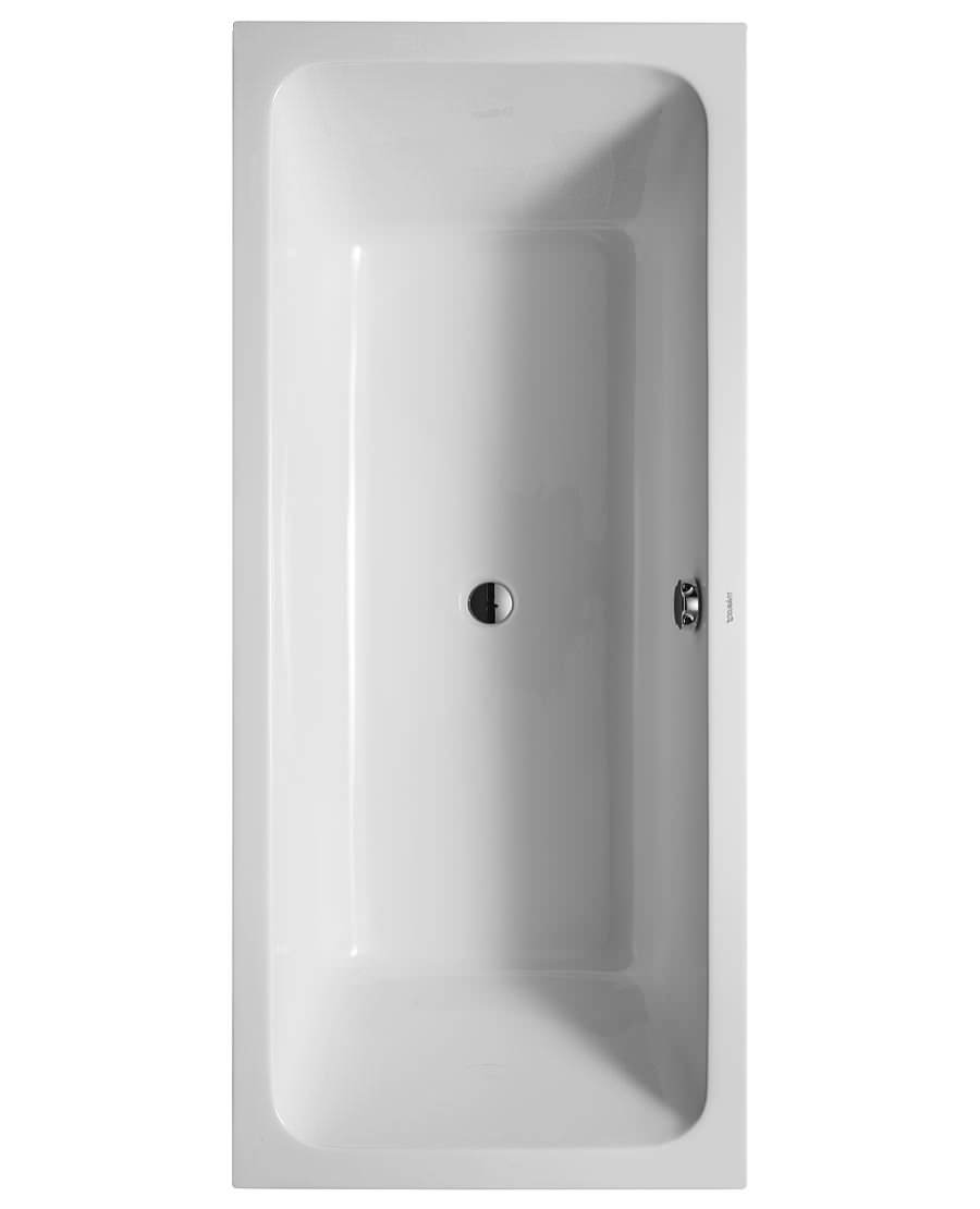 D-Code 1800 x 800mm Built-In Bathtub With Support Feet - Central Outlet