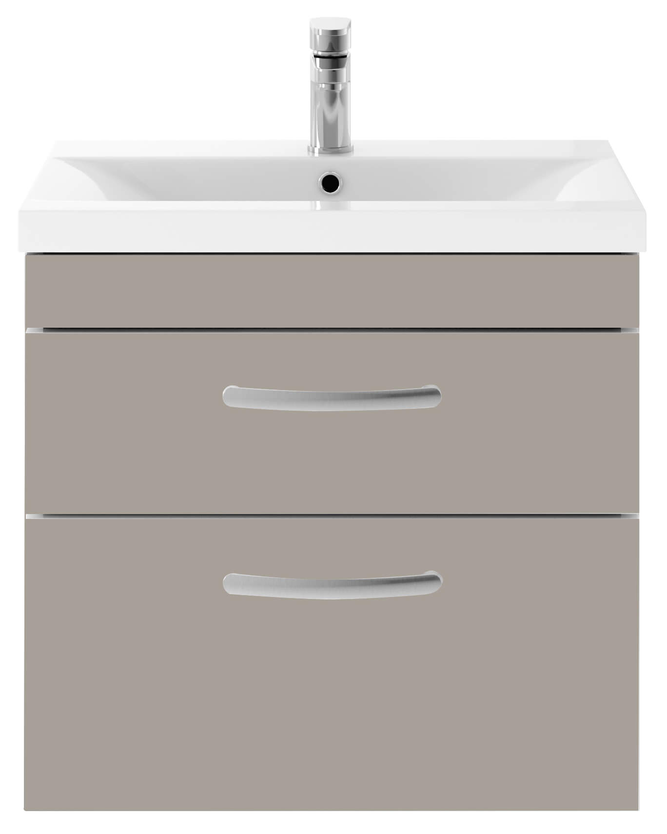 Premier Athena 600mm 2 Drawer Wall Hung Cabinet With Basin