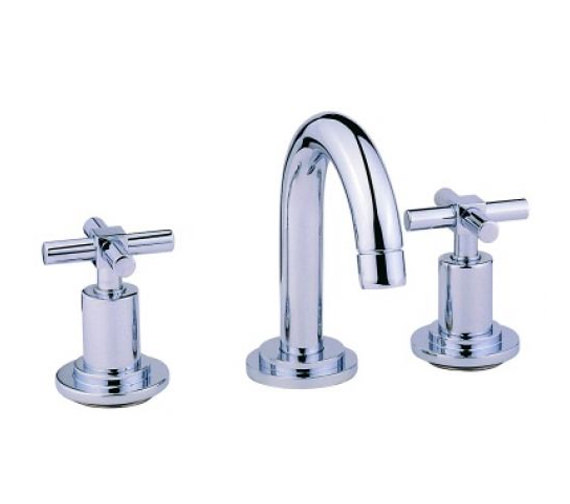 vitra uno 3 hole basin mixer tap with pop up waste a40877vuk. Black Bedroom Furniture Sets. Home Design Ideas