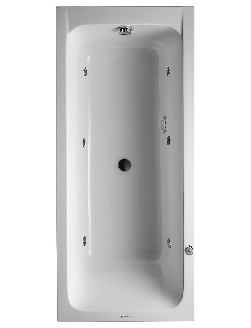 duravit d code 1700 x 750mm built in whirltub with central. Black Bedroom Furniture Sets. Home Design Ideas