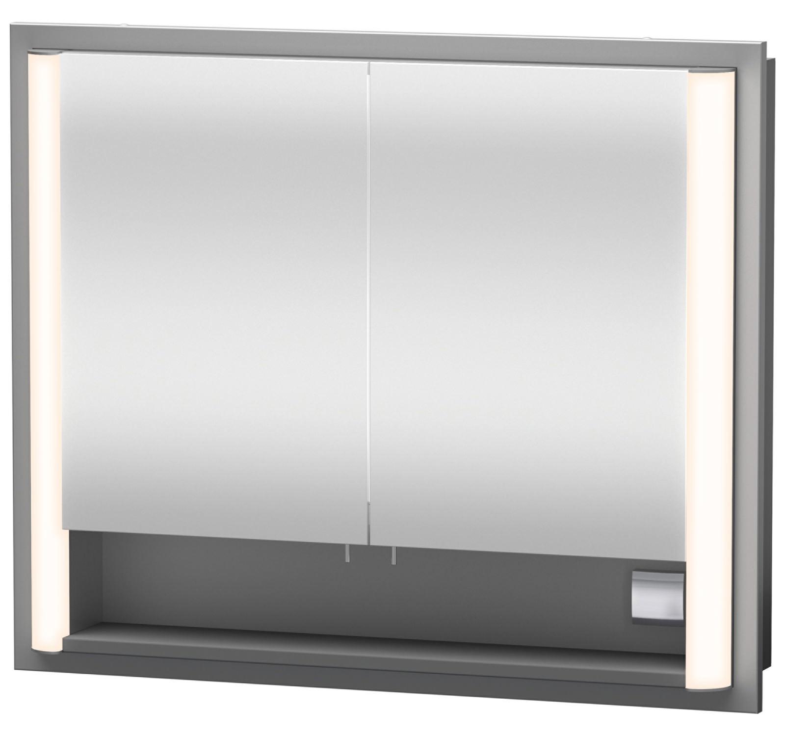 Duravit 660mm Height Aluminium White Built In Mirror