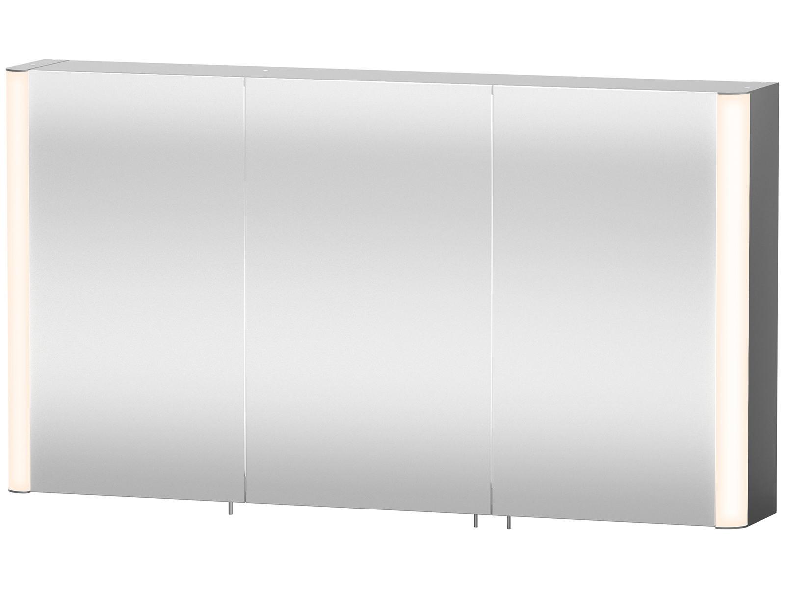 Duravit Aluminium White 1200mm 3 Door Mirror Cabinet