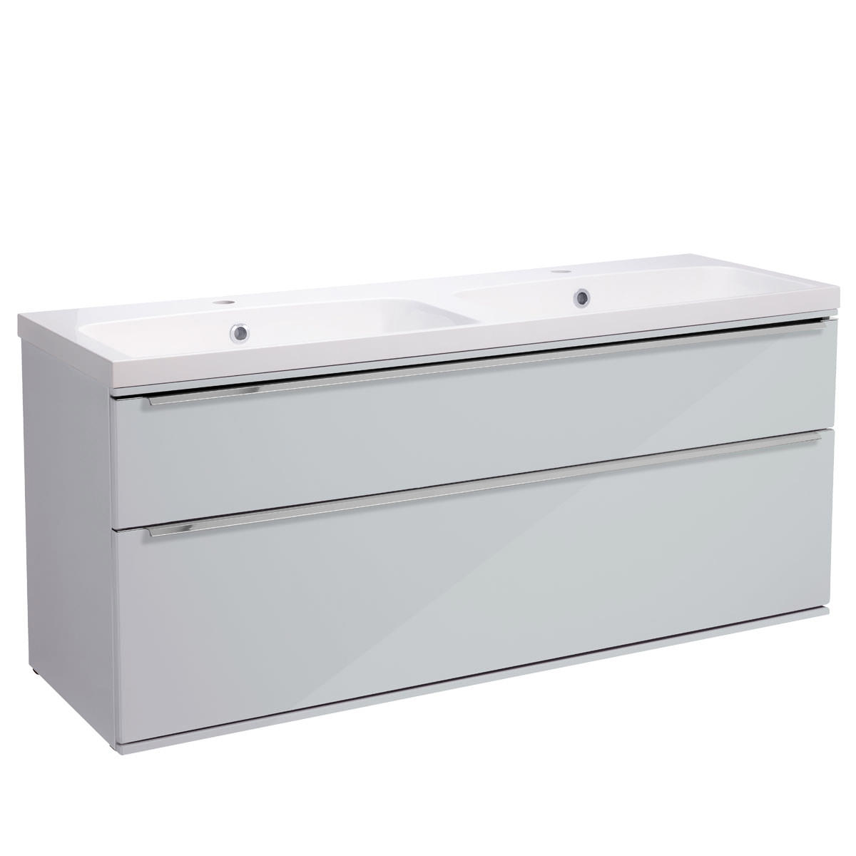 Roper Rhodes Scheme 1200mm Gloss White Wall Mounted Vanity