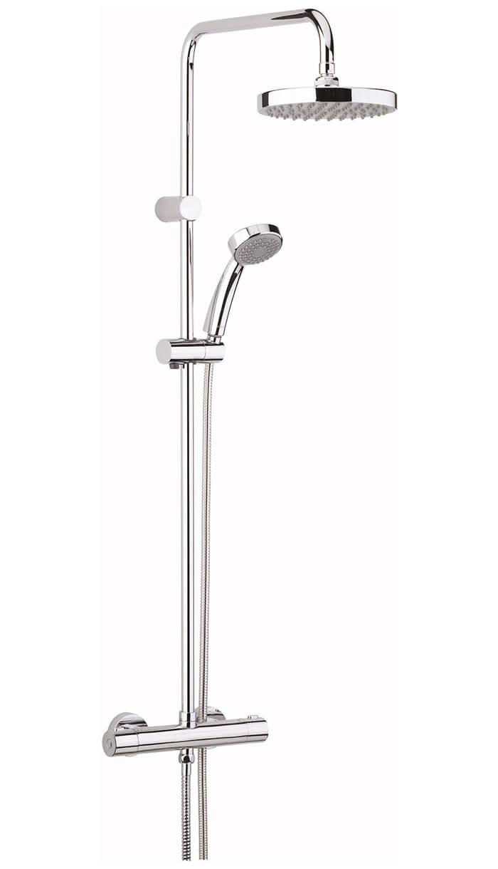 Bristan Carre Fixed Head Thermostatic Bar Shower Valve With Rigid Diverter Diagram Velo Riser Cr Shxdivff C Previous
