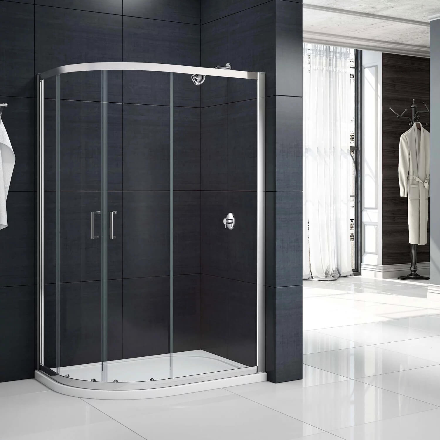 Merlyn Mbox 2 Door Offset Quadrant 1900mm Height Shower