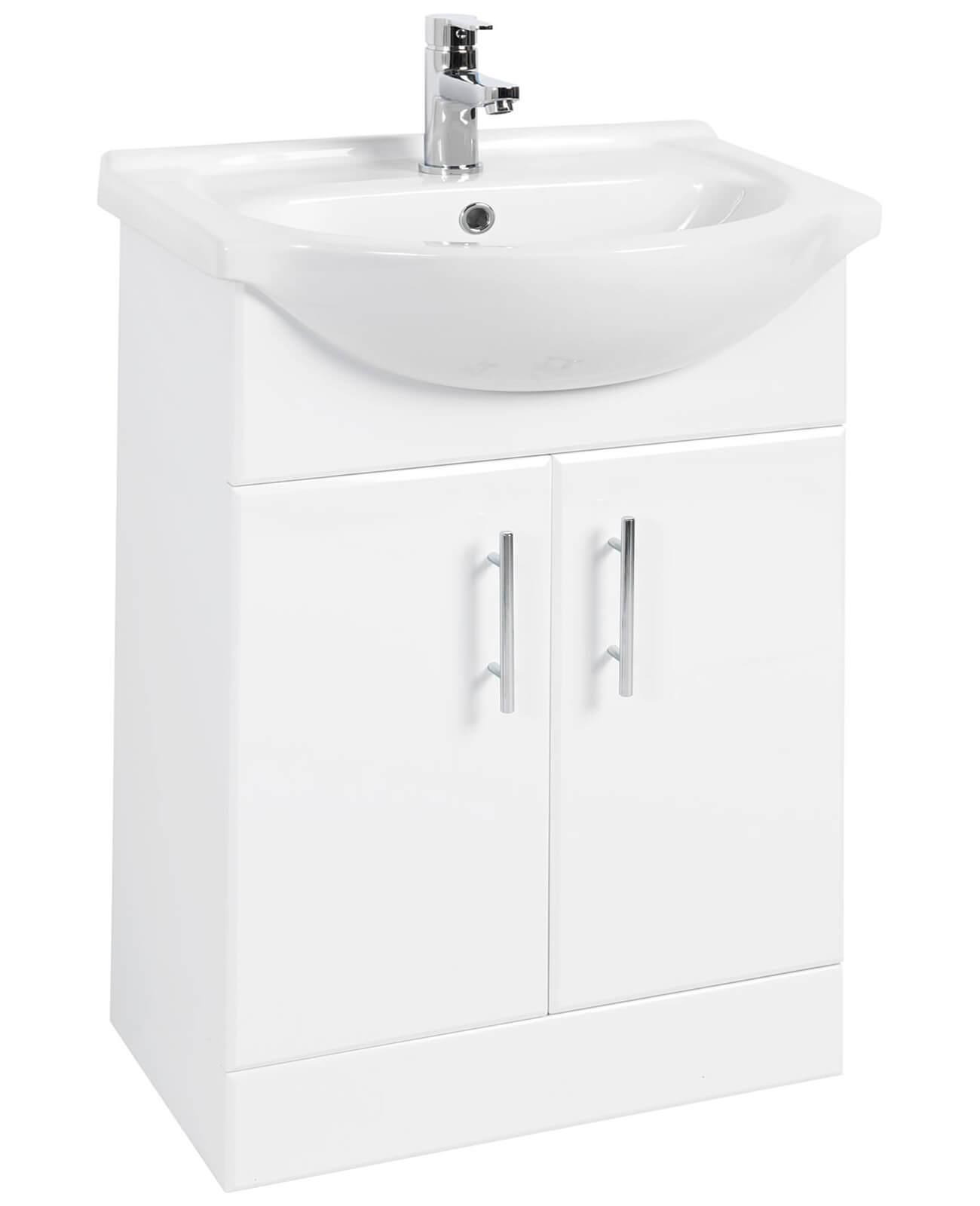 Premier Mayford 550mm Double Door Bathroom Vanity Unit And Basin   PRC102