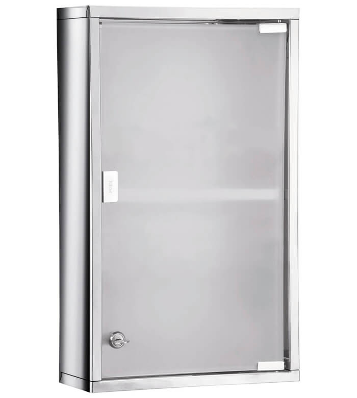 Bathroom Origins Rectangular Medicine Cabinet With Polished And Frosted Glass Door Jo07