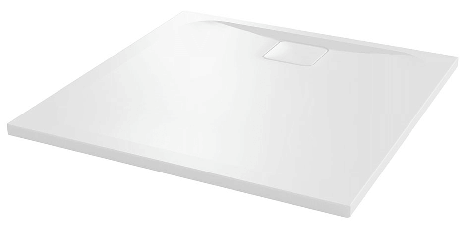 Merlyn 90mm Fast Flow Shower Tray Waste white square top DWASL25