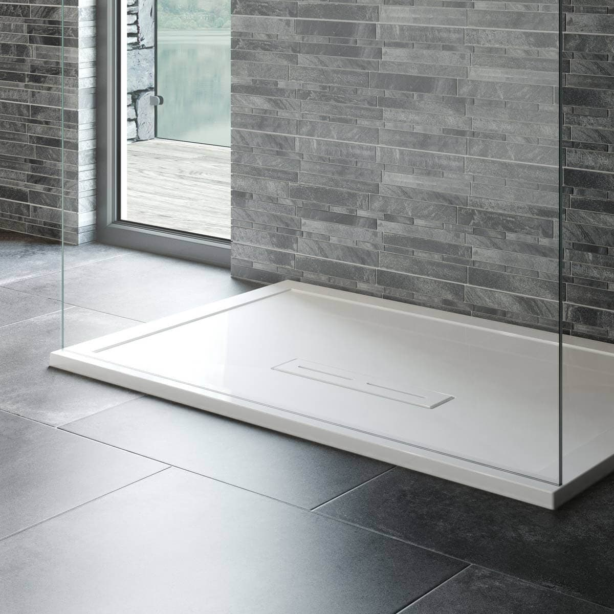 kudos connect2 rectangular shower tray c2t10080t. Black Bedroom Furniture Sets. Home Design Ideas