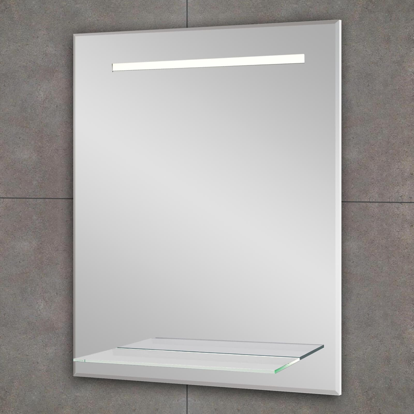 Bathroom Origins Fusion Light Backlit Led Mirror With Shelf