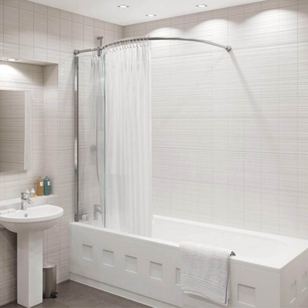 Kudos Inspire 1500 X 350mm Over Bath Shower Panel And Bow