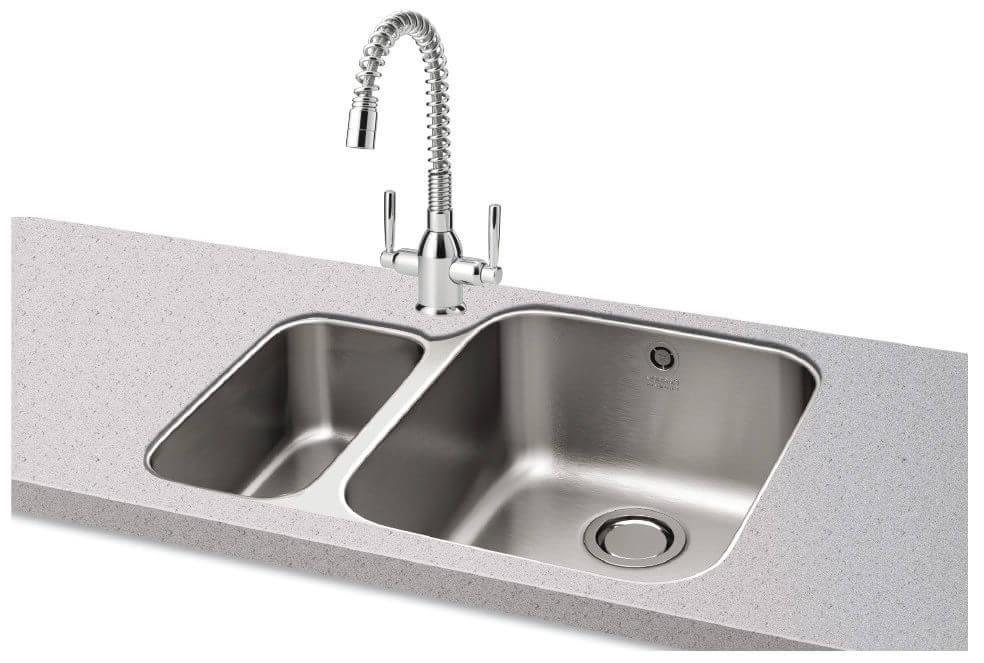 Carron Phoenix Ibis 150 Left Hand 1 5 Bowl Undermount Kitchen Sink