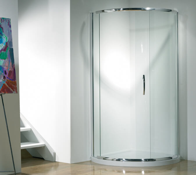 Kudos Infinite 1900mm High Curved, Corner Shower Curved Glass Doors