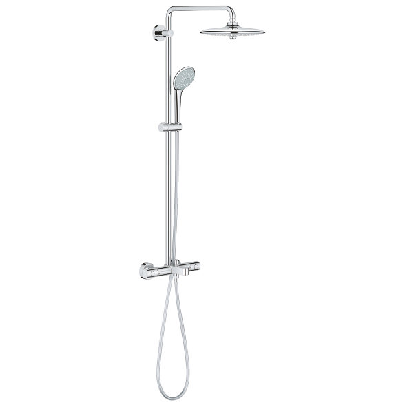 grohe euphoria concetto 260 shower system with thermostat valve 26114001. Black Bedroom Furniture Sets. Home Design Ideas