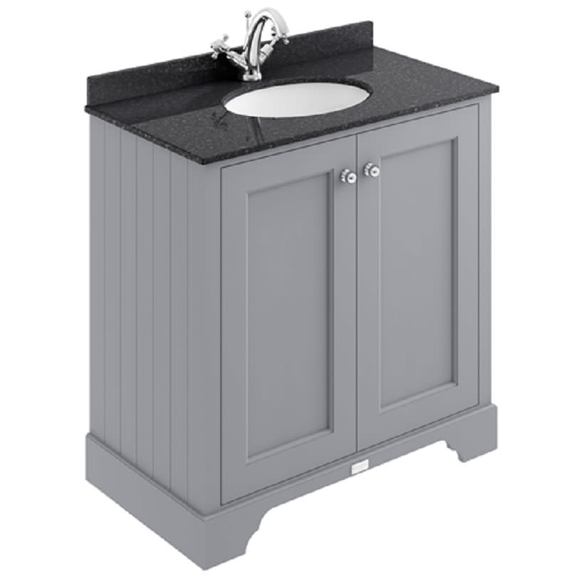 Bayswater Pointing White 800mm 2 Door Basin Cabinet Bayf106