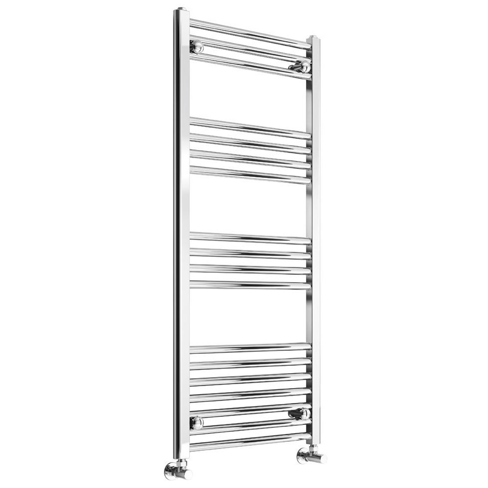 Heated Towel Rail Height From Floor: Reina Capo 600mm Wide Chrome Flat Heated Towel Rail