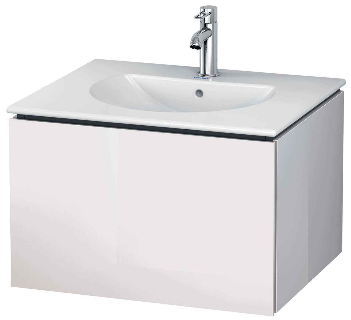 duravit l cube 620mm wall mounted vanity unit with darling new basin. Black Bedroom Furniture Sets. Home Design Ideas