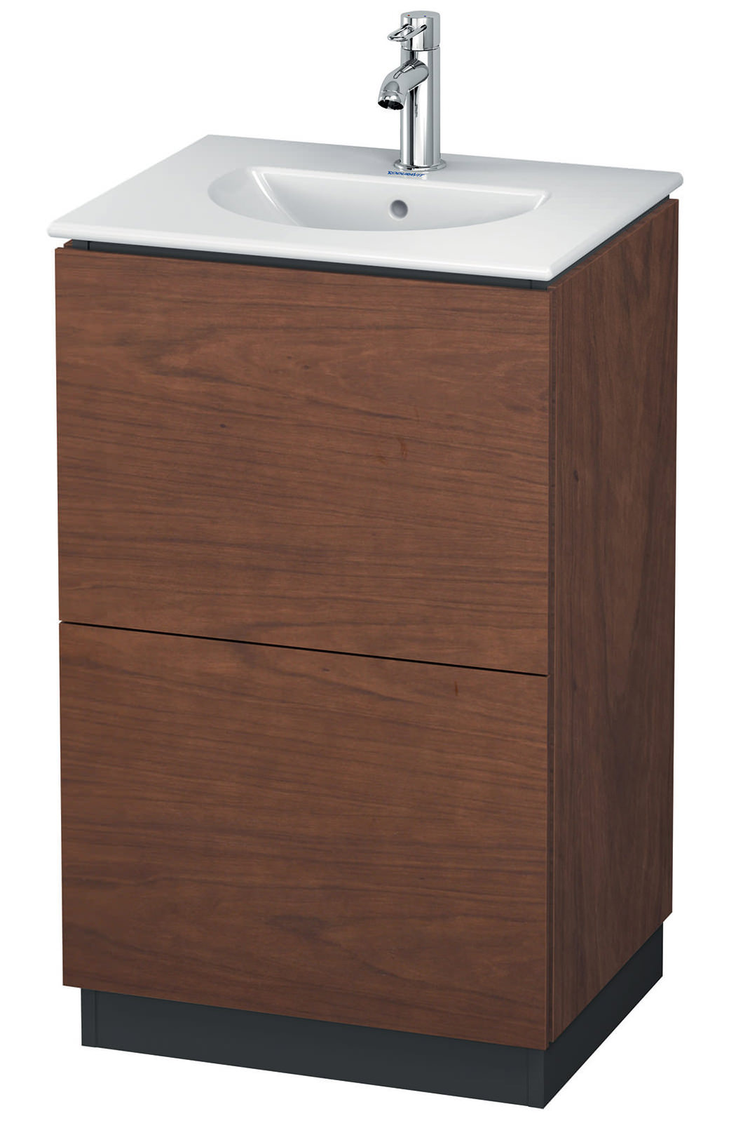 Duravit L Cube 520mm Floor Standing Vanity Unit With Darling New Basin