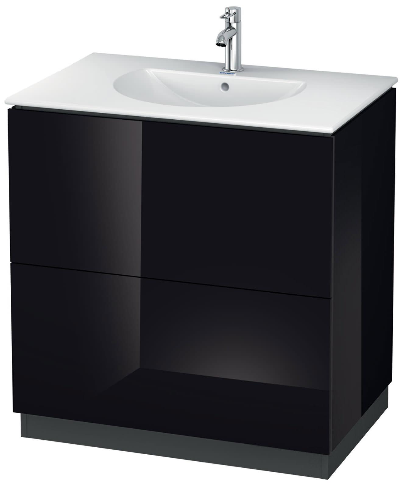 duravit l cube 820mm floor standing vanity unit with darling new basin. Black Bedroom Furniture Sets. Home Design Ideas