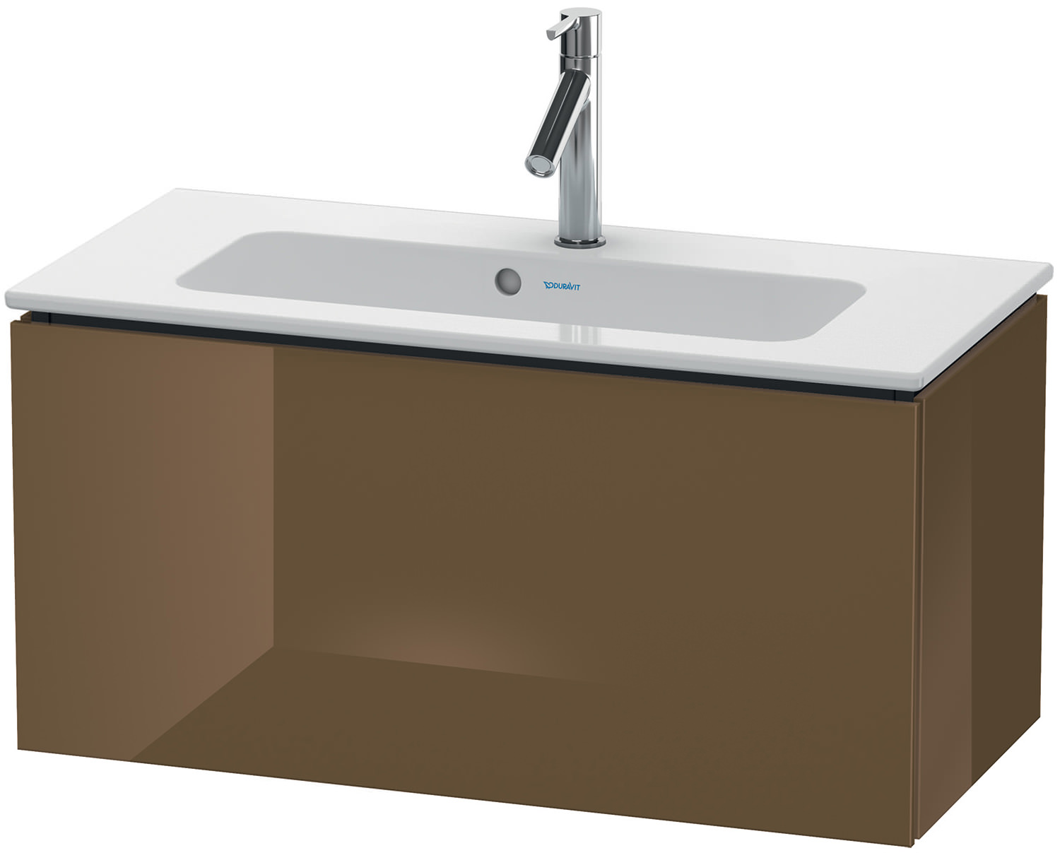 duravit l cube 820mm compact vanity unit with me by starck basin. Black Bedroom Furniture Sets. Home Design Ideas