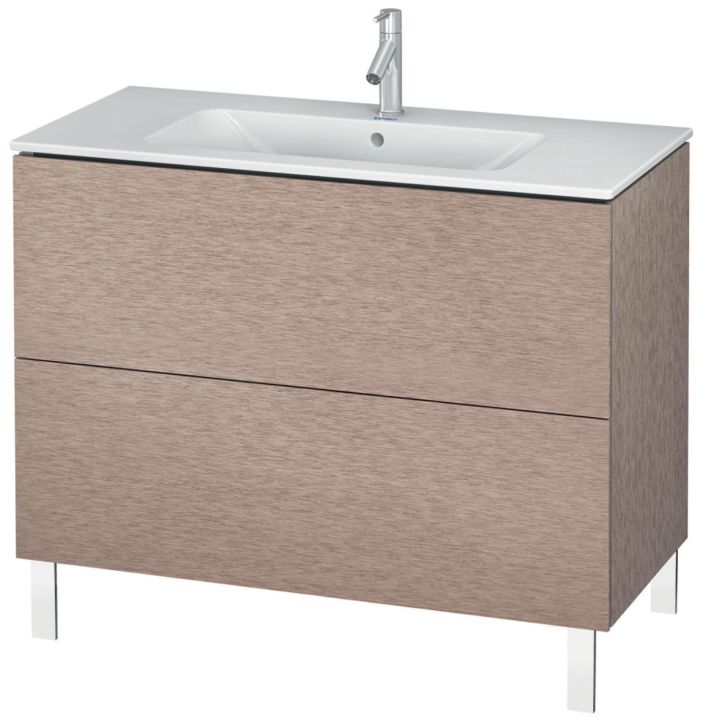 duravit l cube 1020mm floor standing vanity unit with me. Black Bedroom Furniture Sets. Home Design Ideas