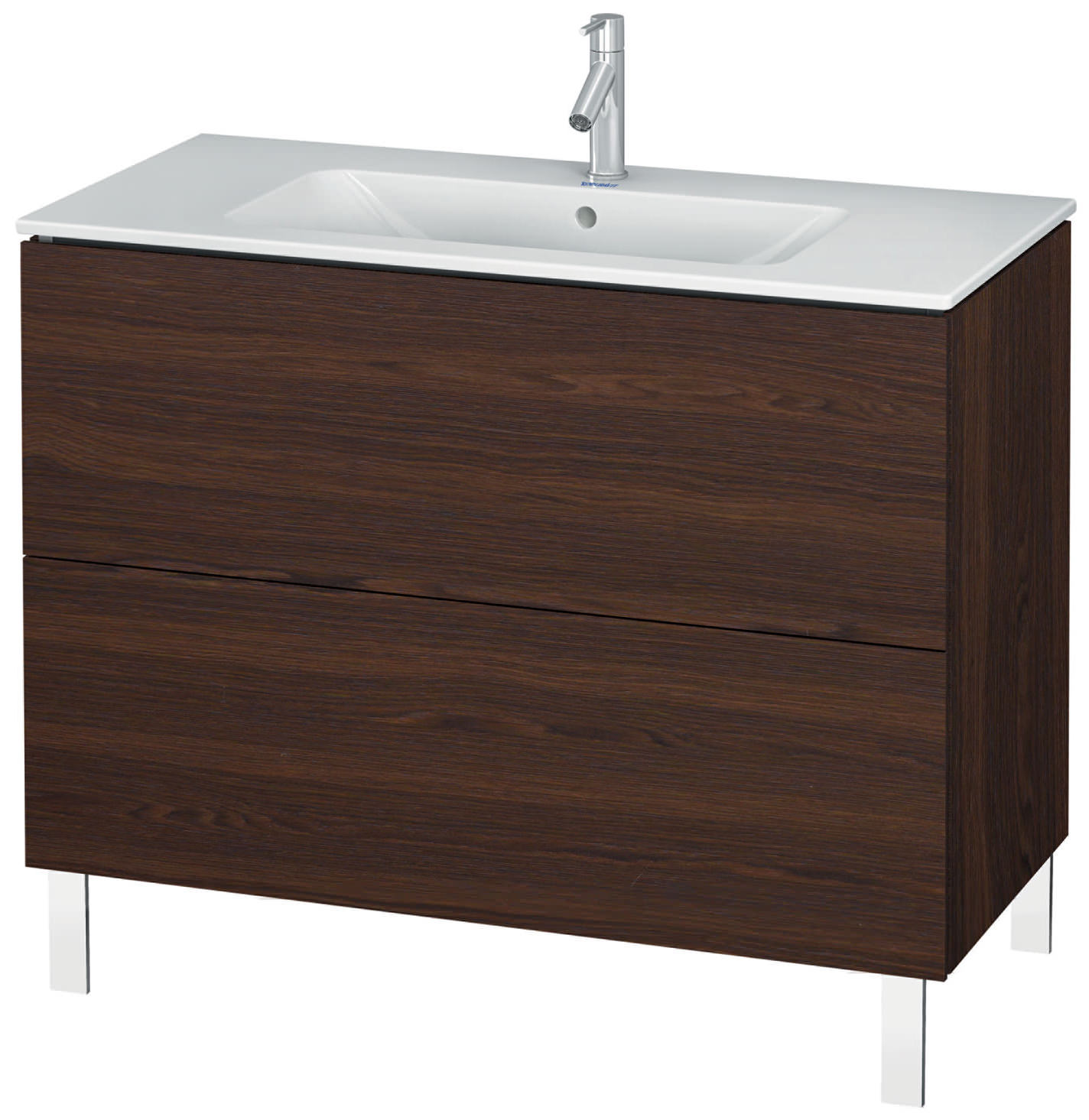 duravit l cube 1020mm floor standing vanity unit with me by starck basin. Black Bedroom Furniture Sets. Home Design Ideas