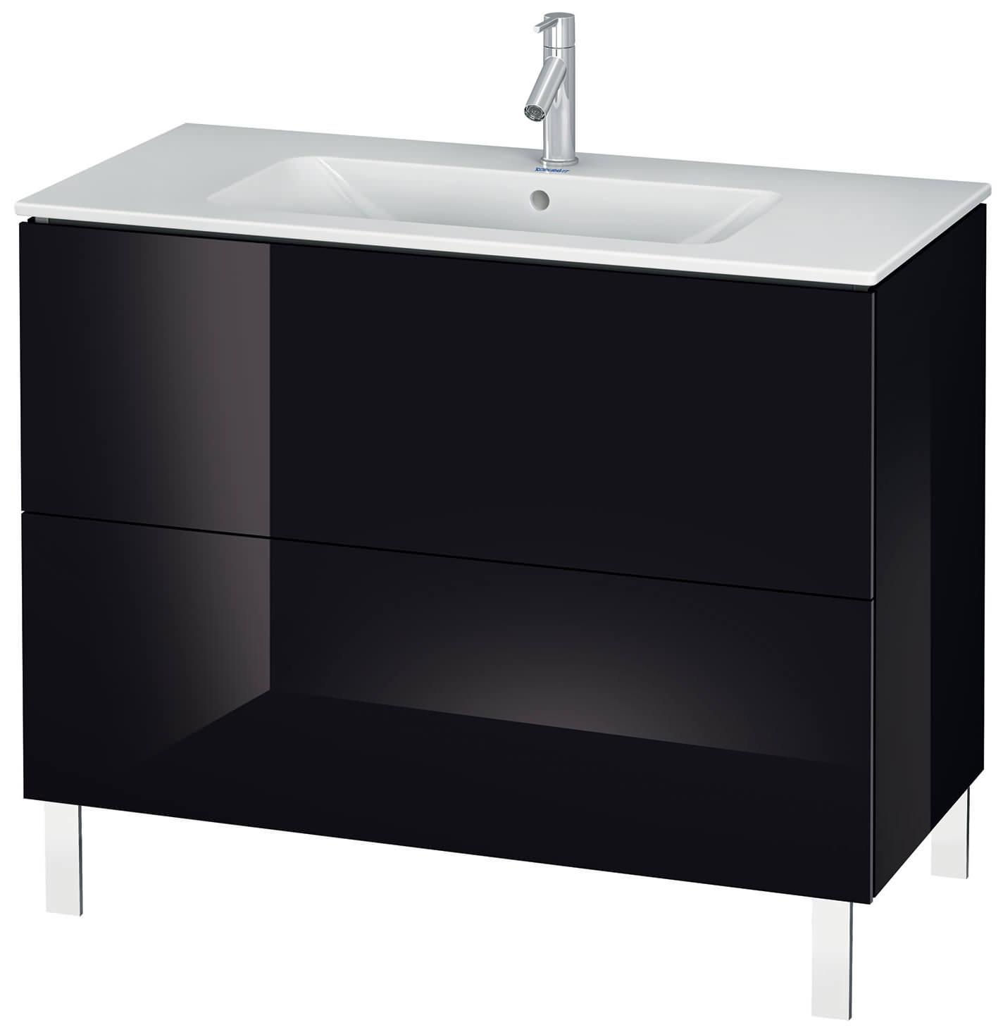 duravit l cube 1020mm floor standing vanity unit with me by starck basin. Black Bedroom Furniture Sets. Home Design Ideas