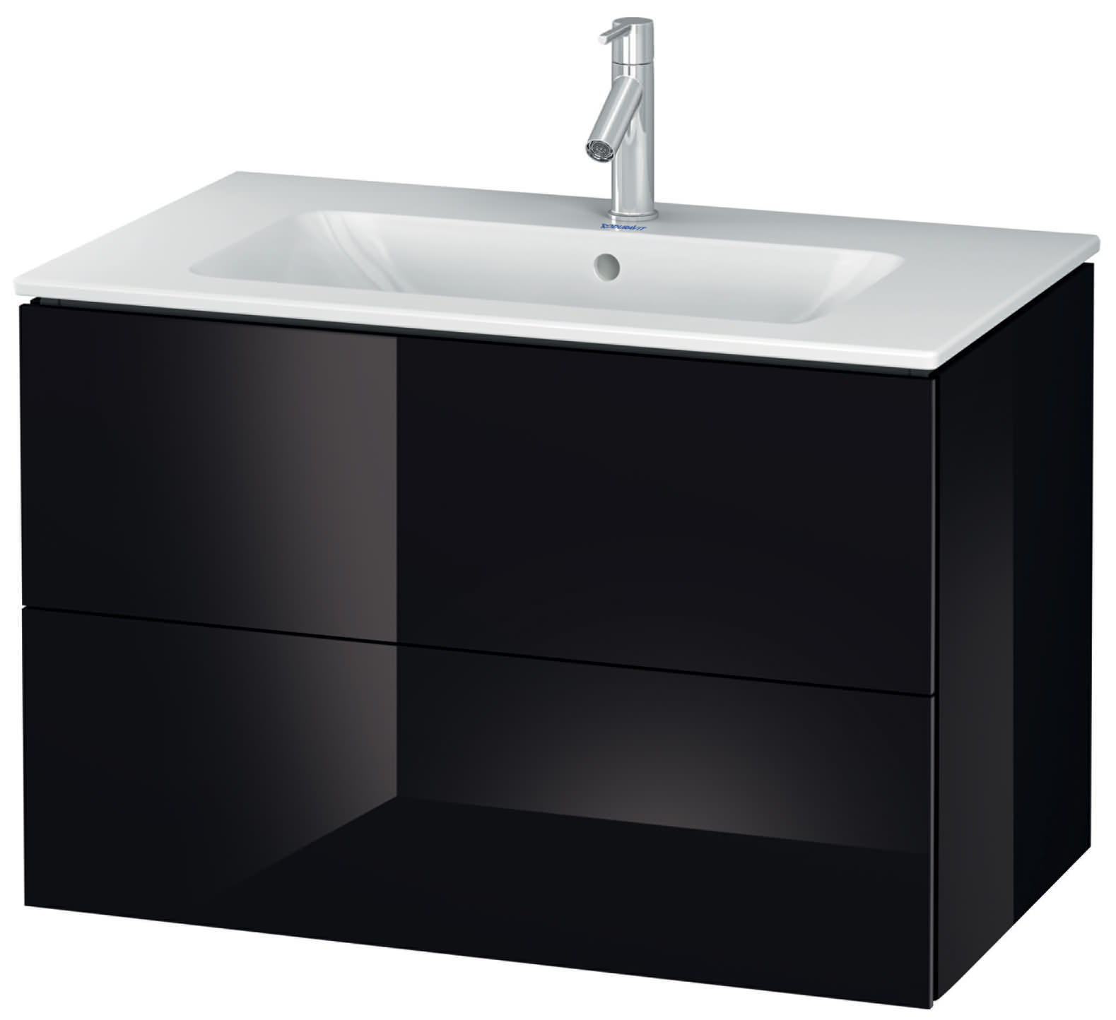 duravit l cube 820mm 2 drawers vanity unit with me by. Black Bedroom Furniture Sets. Home Design Ideas