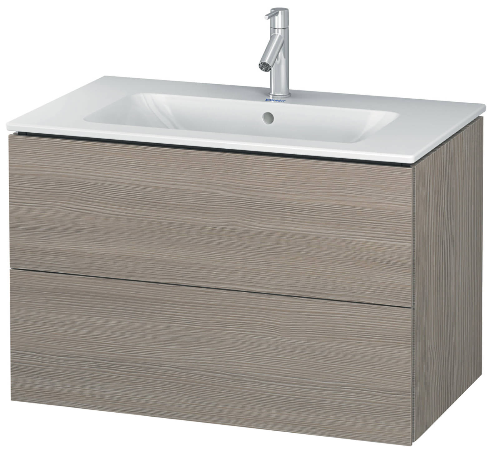 duravit l cube 820mm 2 drawers vanity unit with me by starck basin. Black Bedroom Furniture Sets. Home Design Ideas