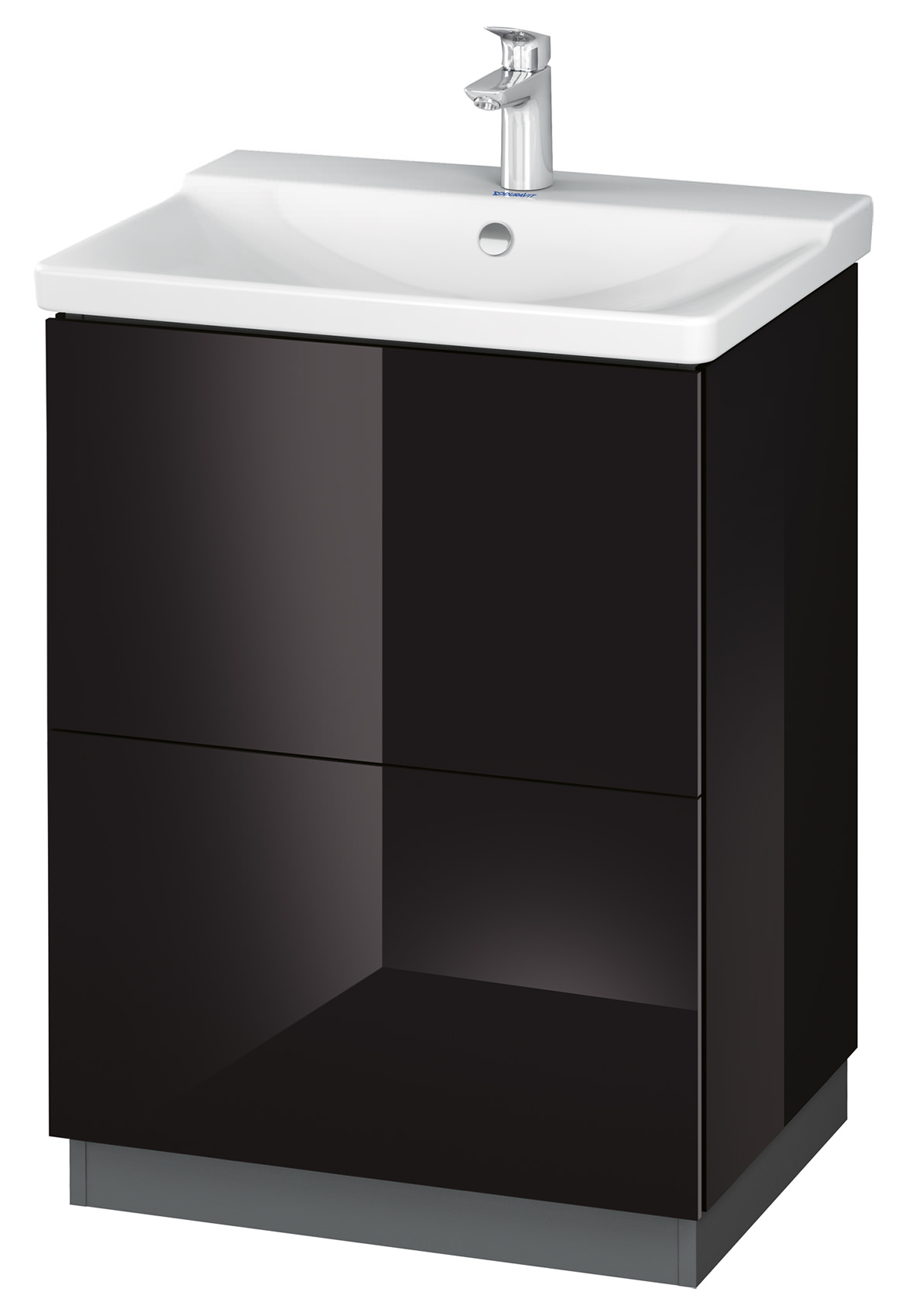 duravit l cube 620mm floor standing vanity unit with plinth panel. Black Bedroom Furniture Sets. Home Design Ideas
