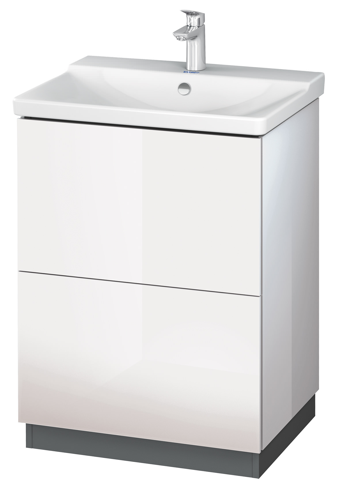 duravit l cube 620mm floor standing vanity unit with. Black Bedroom Furniture Sets. Home Design Ideas