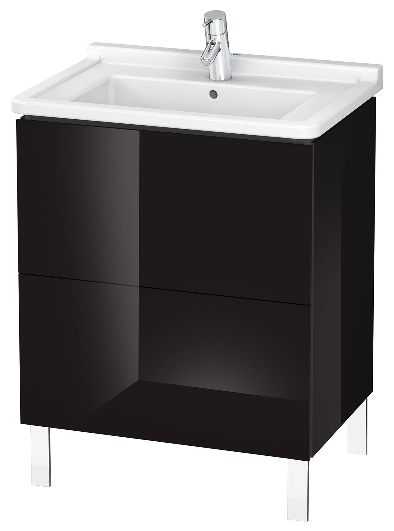 duravit l cube 670mm floor standing vanity unit with starck 3 basin. Black Bedroom Furniture Sets. Home Design Ideas