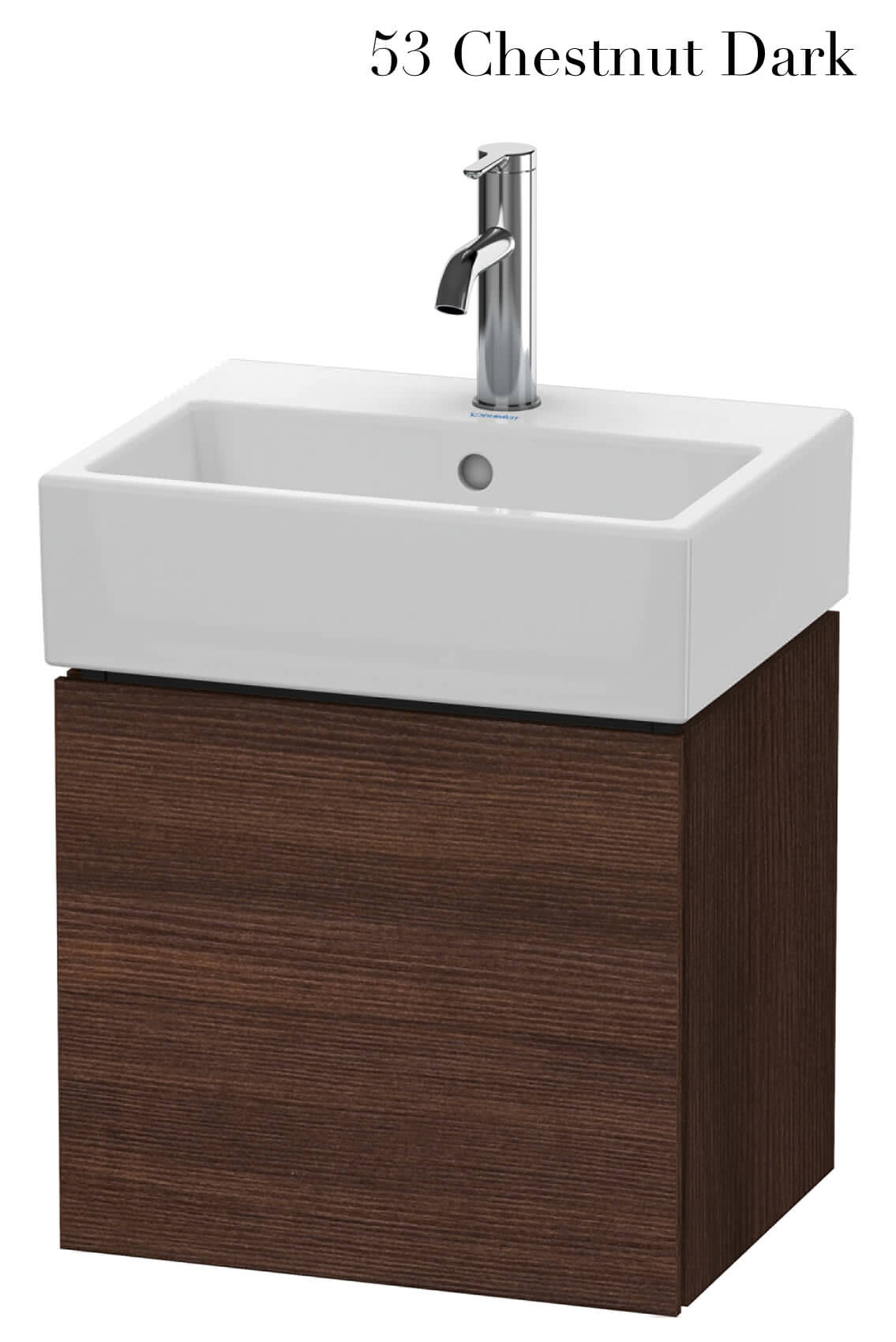 duravit l cube 434mm wall mounted vanity unit with vero air basin. Black Bedroom Furniture Sets. Home Design Ideas