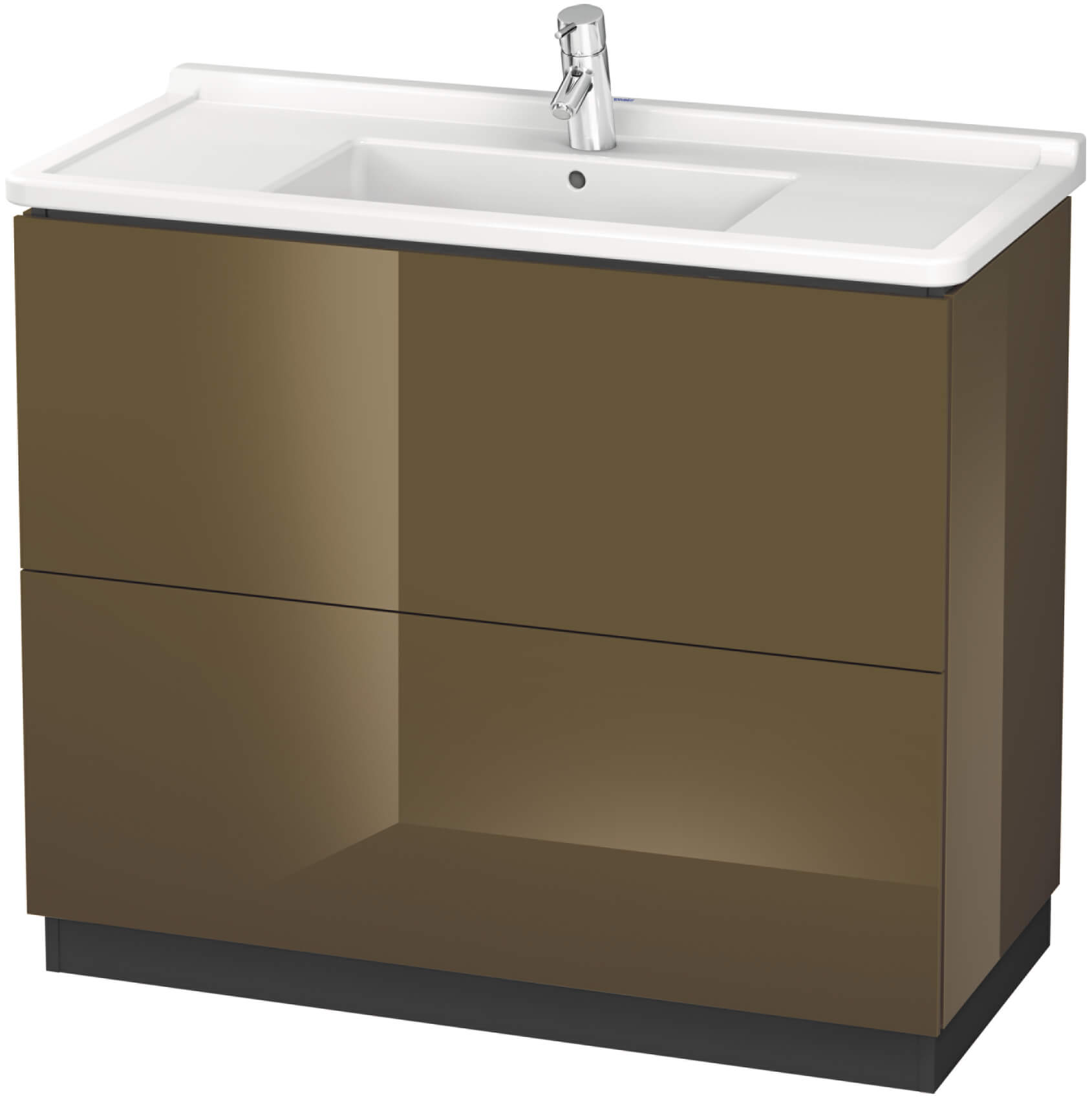 duravit l cube 1020 x 864mm floor standing vanity unit with starck 3 basin. Black Bedroom Furniture Sets. Home Design Ideas