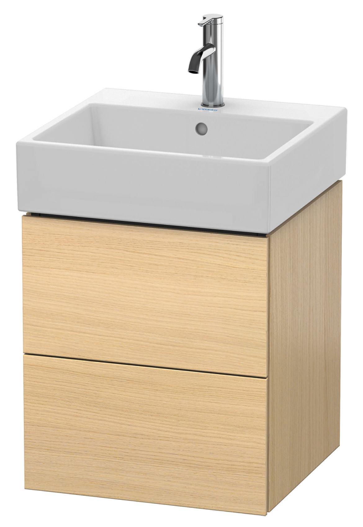 duravit l cube 484mm 2 drawer vanity unit with vero air basin. Black Bedroom Furniture Sets. Home Design Ideas