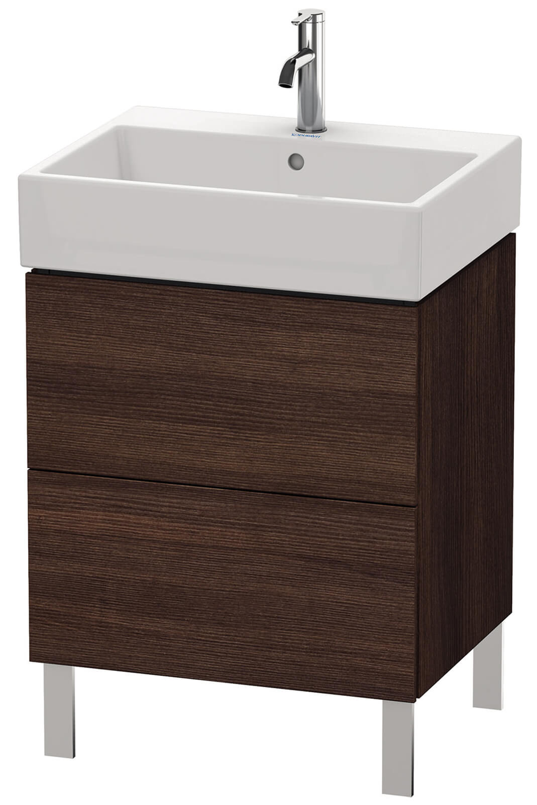 duravit l cube 584mm floor standing vanity unit with vero air basin. Black Bedroom Furniture Sets. Home Design Ideas