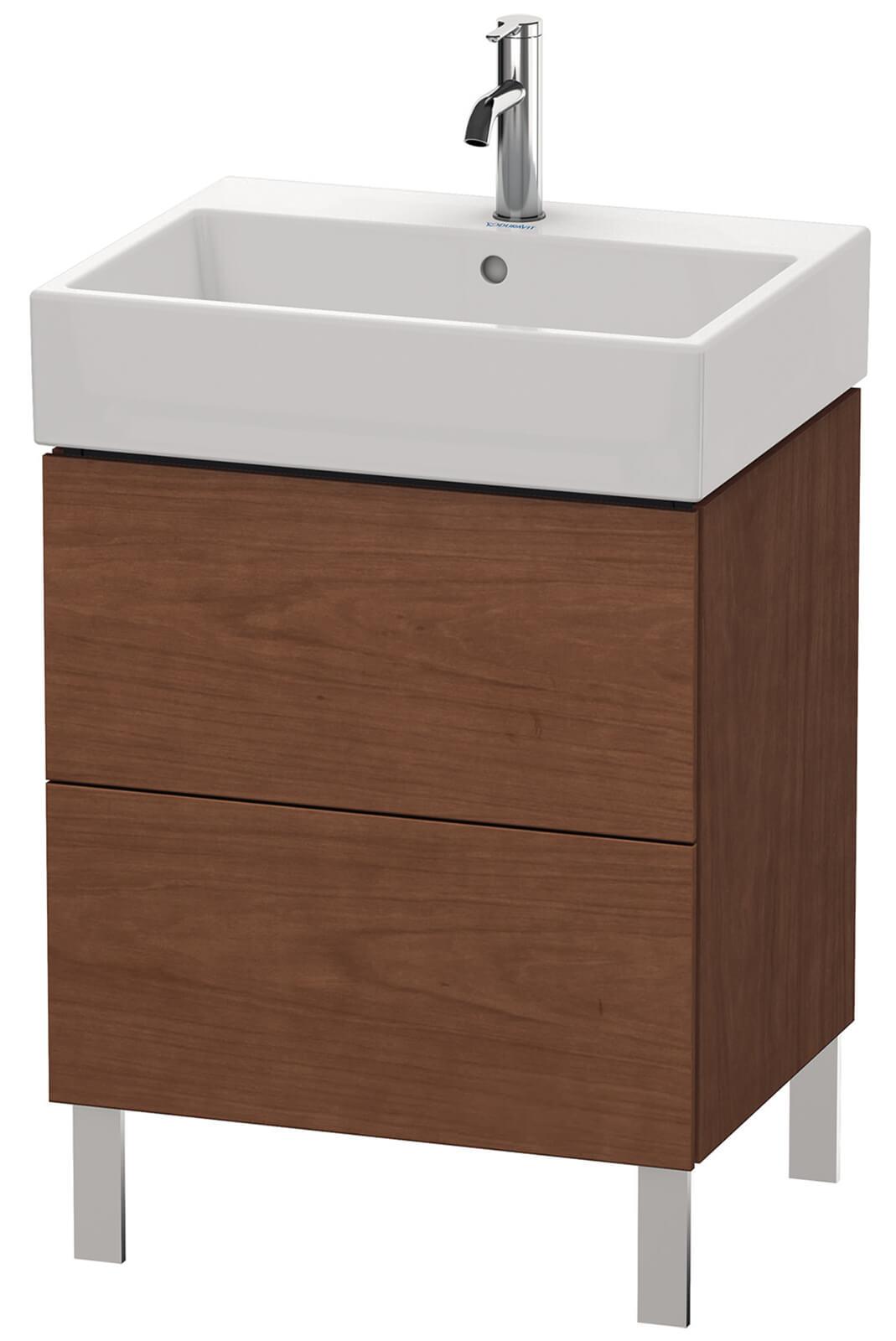 duravit l cube 584mm floor standing vanity unit with vero air basin. Black Bedroom Furniture Sets. Home Design Ideas