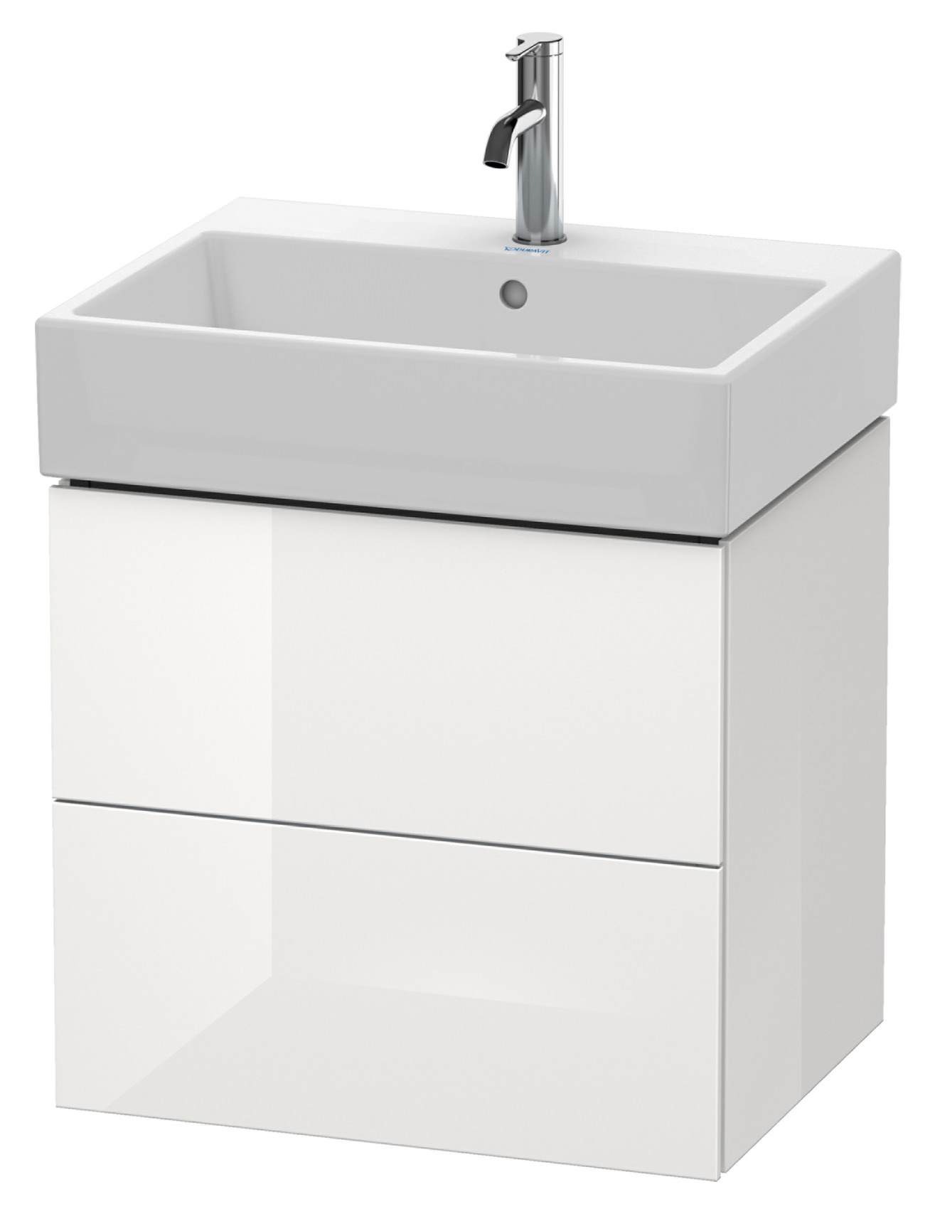 duravit l cube 584mm 2 drawer vanity unit with vero air basin. Black Bedroom Furniture Sets. Home Design Ideas