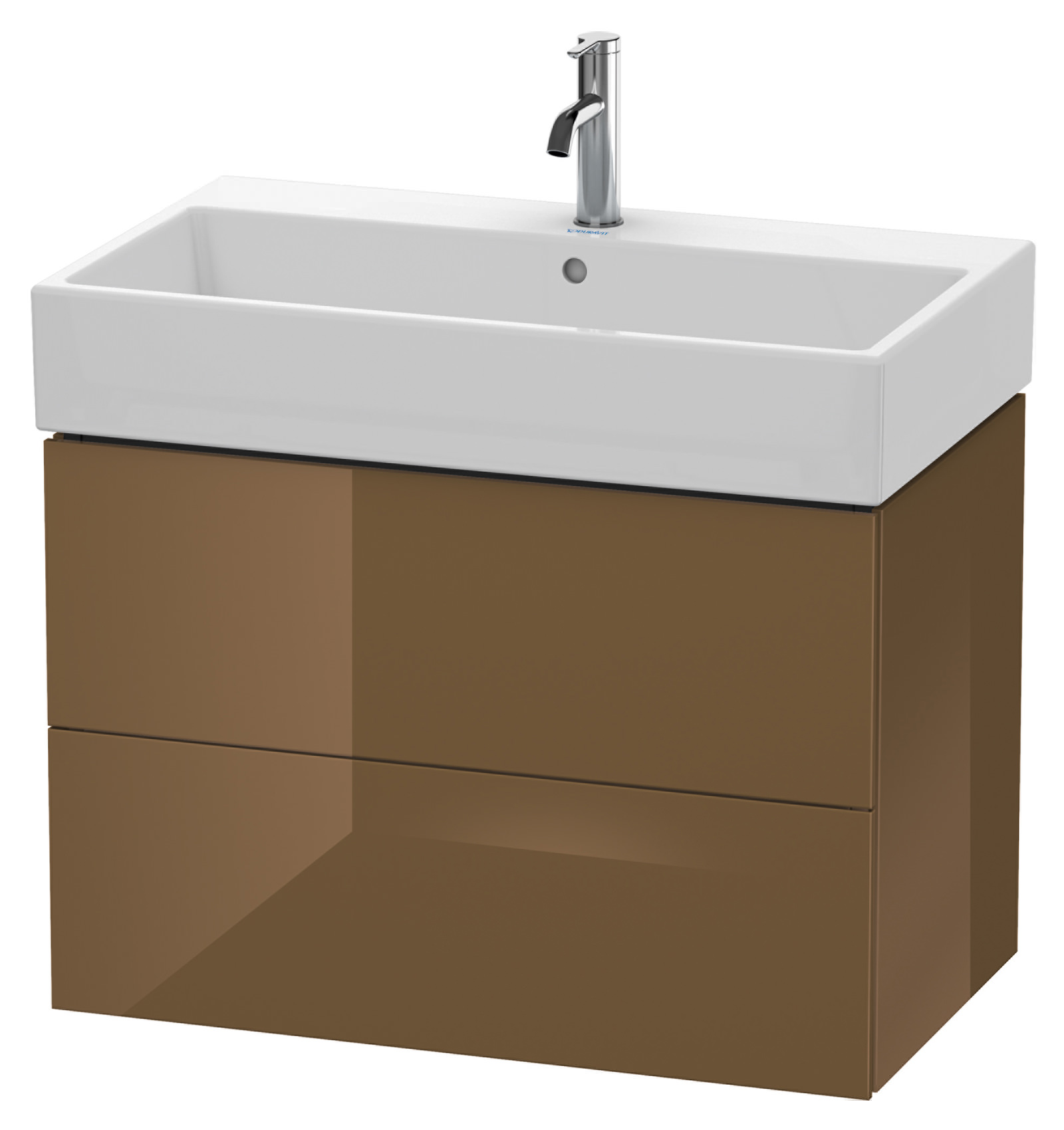 duravit l cube 784mm 2 drawer vanity unit with vero air basin. Black Bedroom Furniture Sets. Home Design Ideas