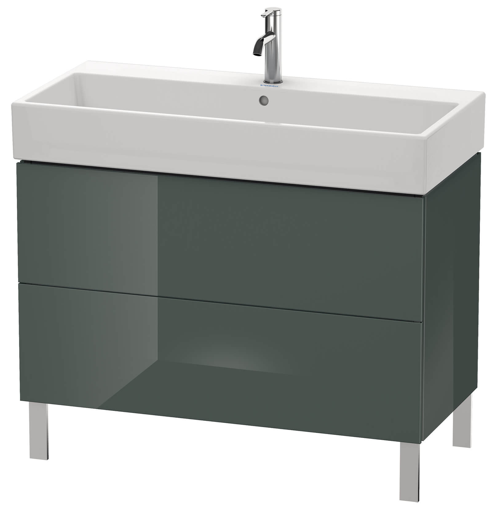 duravit l cube 984mm floor standing vanity unit with vero air basin. Black Bedroom Furniture Sets. Home Design Ideas