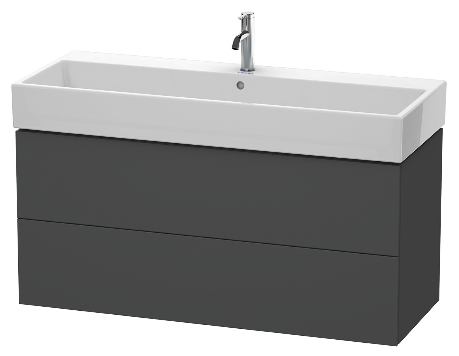 duravit l cube 1184mm 2 drawer vanity unit with vero air basin. Black Bedroom Furniture Sets. Home Design Ideas